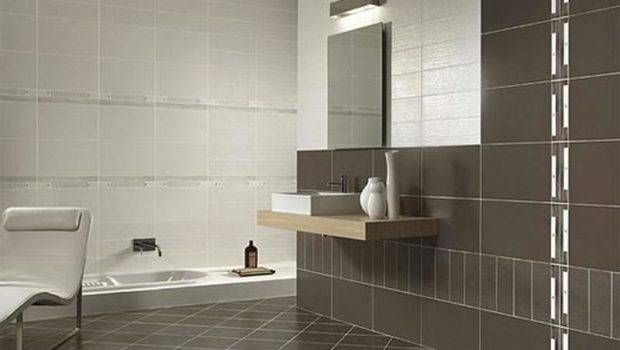 Bathroom Wall Brown Tile Examples