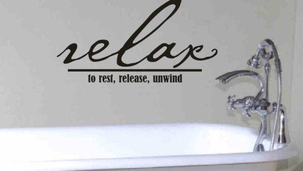 Bathroom Wall Decor Quote Relax Rest Release Vgwalldecals