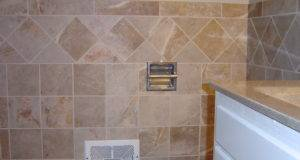 Bathroom Wall Wainscot Porcelain Tile Set Straight Lay