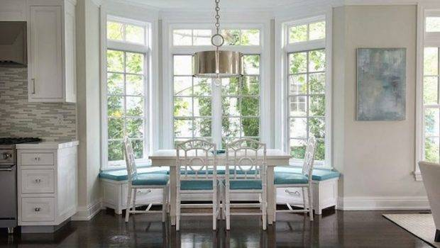 Bay Window Works Well Long Table Faux Bamboo Chairs