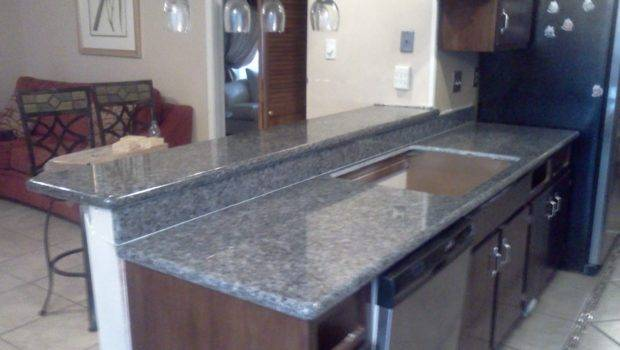 Beautiful Blue Pearl Granite Installed Our Crew