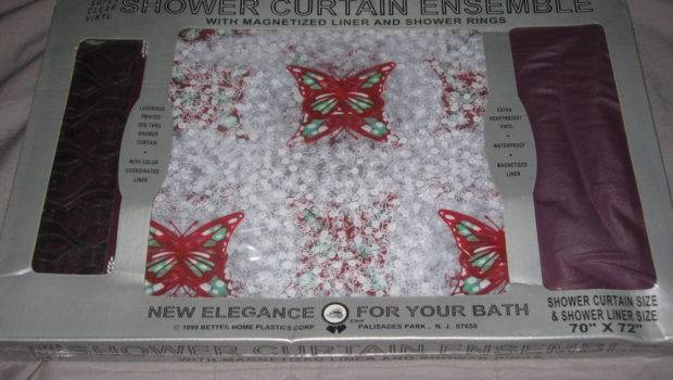 Beautiful Butterfly Shower Curtain Vinyl Through Rings Liner