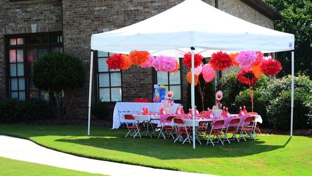 Beautiful Day Party Love She Decorated Tent