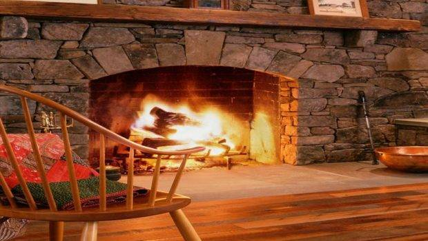 Beautiful Rustic Stone Fireplaces Build