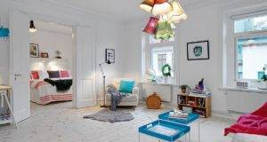 Beautiful Scandinavian Apartment Cheerful Decor Inspiring