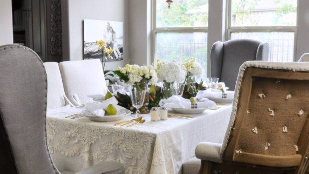 Beautiful White Dining Room Decor Gold Designs