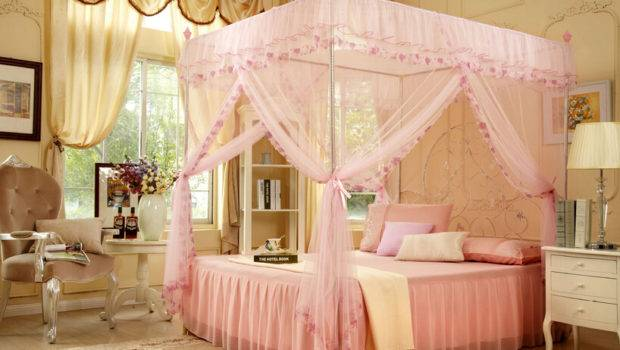 Bed Canopy Curtains Palace Mosquito Three Door Luxury