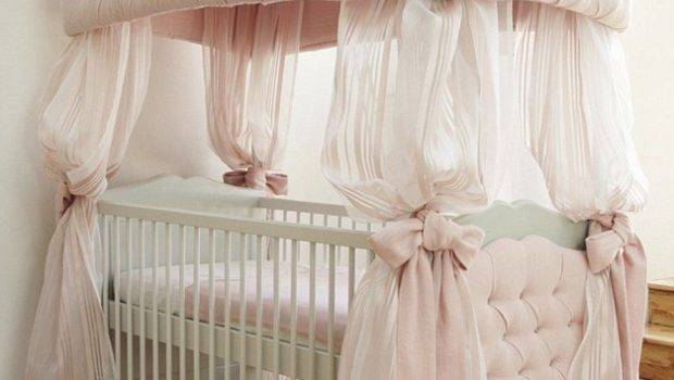 Bed Canopy Ideas Baby Nursery Gorgeous Vintage Bedding