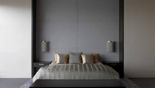 Bed Frame Wall Mounted Panels Contemporary