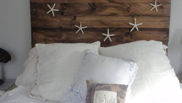 Bed Headboard Made Untreated Wood Gives Attractive
