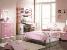Bedroom Captivating Girl Pink Design Using Light