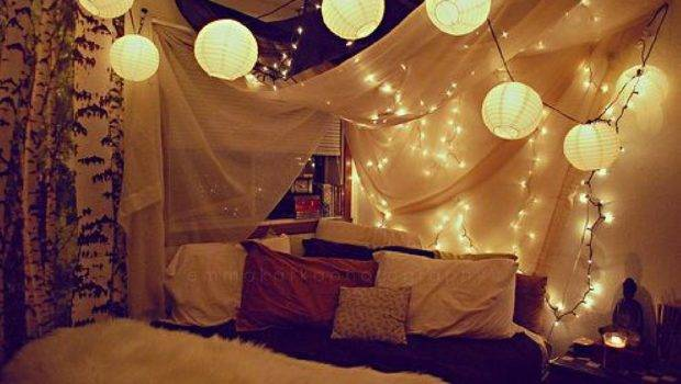 Bedroom Decorating Ideas Christmas Lights Room