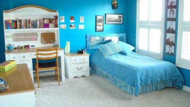 Bedroom Decorating Ideas Teenage Girls Blue Wall Teen