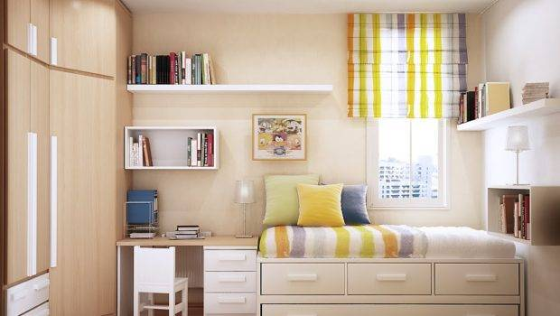 Bedroom Design Stripes Cool Funky Look Small Space