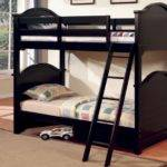 Bedroom Designs Casual Twin Bunk Beds Black Color Wooden Style Design