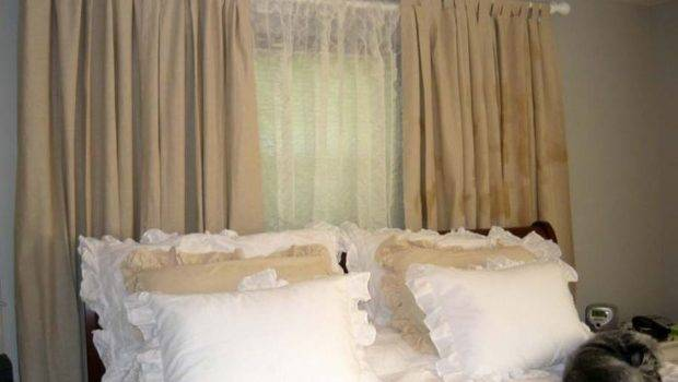 Bedroom Drapes Curtains Plus White Bed Idea Mesmerizing