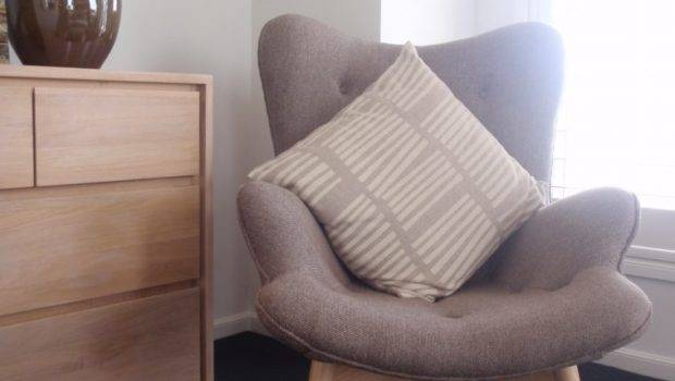 Bedroom Ideas Brown Upholstered Comfy Wing Chair