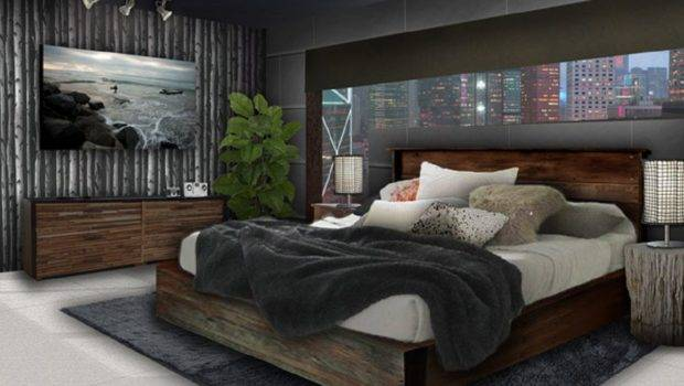 Bedroom Ideas Young Adults Men Round Hanging Lamp