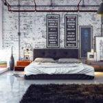 Bedroom Masculine Style Insdustrial Mens Decorating Ideas