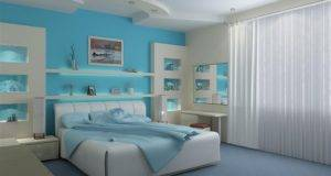 Bedroom Mixing Paint Colors Bright Blue Modern Decor