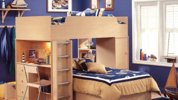 Bedroom Space Saving Ideas Using Bunk Bed Loft