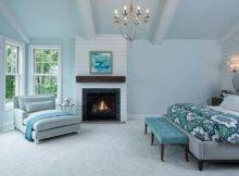 Bedrooms Blue Gray Master Bedroom Chaise Lounge