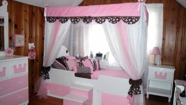 Beds Curtain Curved Bedroom Girls Canopy