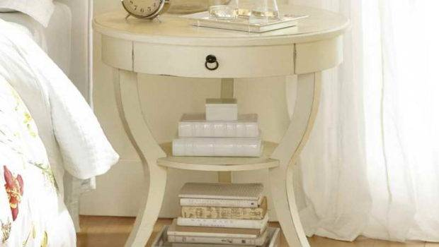 Bedside Table Painted Unusual Tables Cream