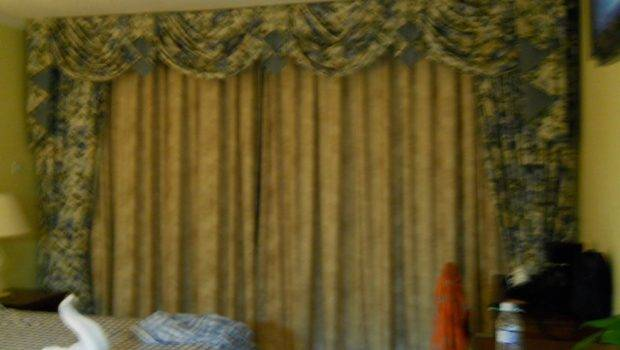Behind Curtains Sliding Glass Door Leading Patio Scenic Home