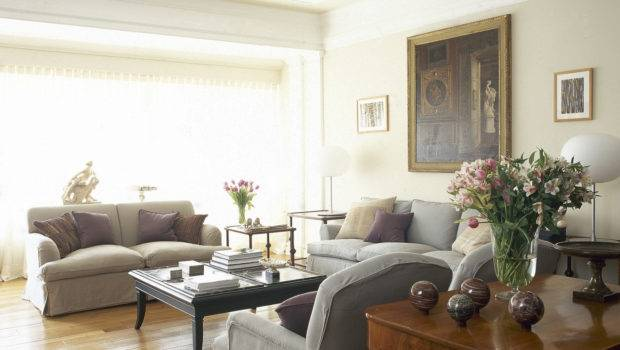 Beige Gray Traditional Room Living Design Ideas Lonny