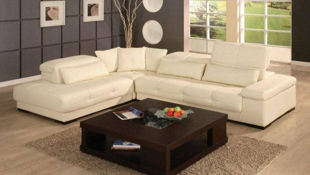 Bella Leather Sectional Sofa Modern