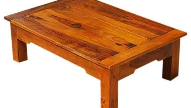 Beloit Handcrafted Rectangular Solid Wood Coffee Table