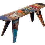 Bench Short Skateboard Reclaimed Skate Deck Furniture
