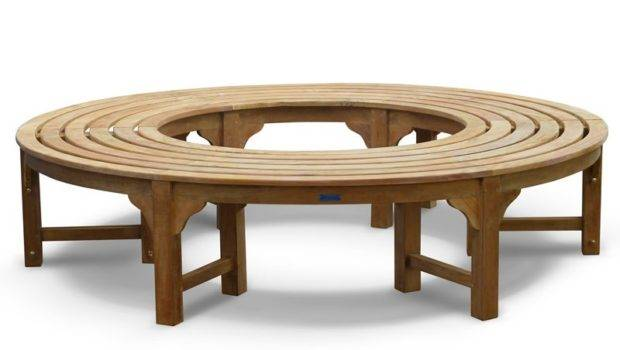 Benches Teak Circular Tree Seat Backless Wrap Around Bench