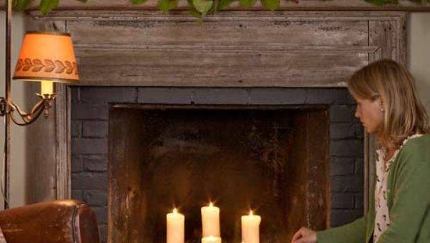 Best Candles Fireplace Ideas Pinterest Candle