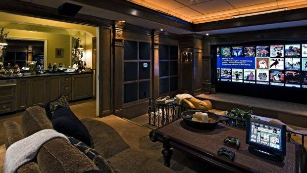 Best Design Large Home Theater Room House Style Living Space Ideas