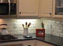 Beveled Subway Tile Backsplash Kitchen Traditional