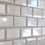 Beveled Subway Tiles Pewter Non Sanded Grout Isn Pretty