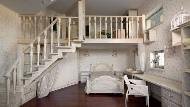 Big Beautiful House Design Ukraine Rustic Wood Mezzanine Stylish