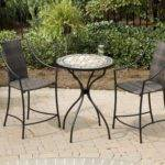 Bistro Set Marble High Top Table