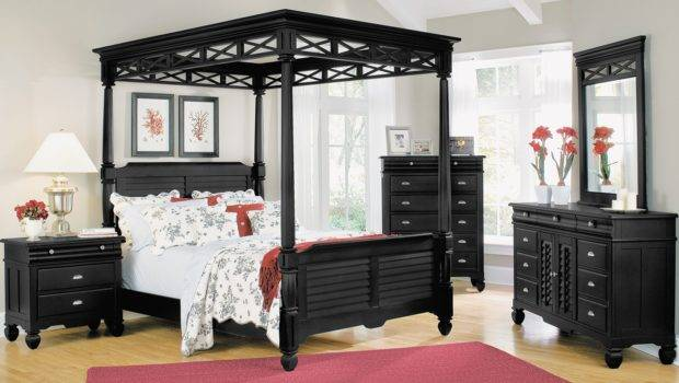 Black Canopy Bed Frame Bath