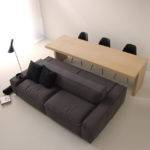 Black Double Sided Sofa
