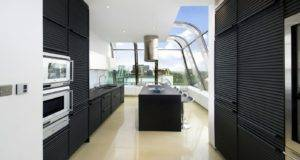 Black Kitchen Cabinets Combined White Wall Design Guide