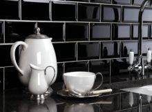 Black Kitchen Wall Tiles Ideas Stay Comfortable Functional