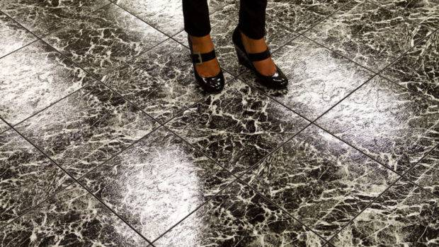 Black Marble Dance Floor High Gloss White Portable