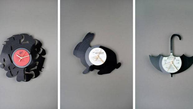 Black Recycle Wall Clock Ideas One Total Inspiring