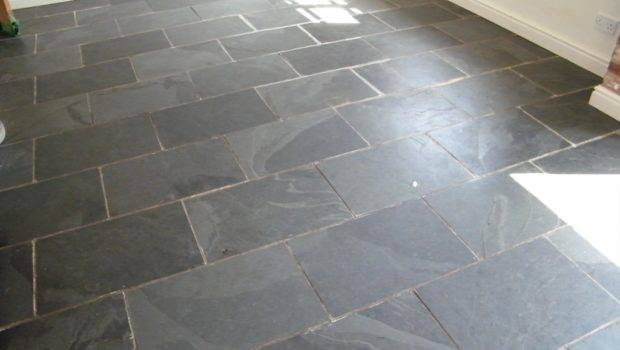 Black Slate Kitchen Floor Stripping Cleaning Sealing
