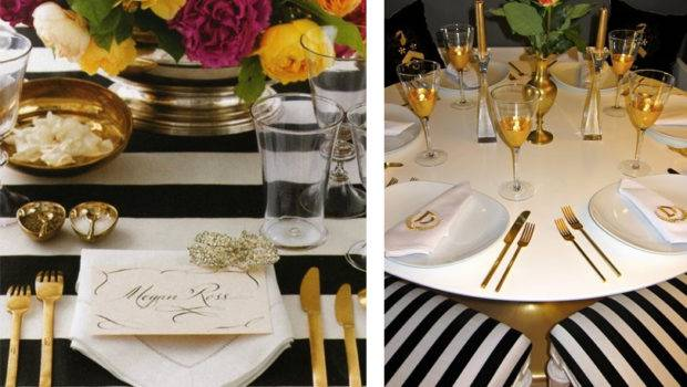 Black White Gold Table Settings Quotes