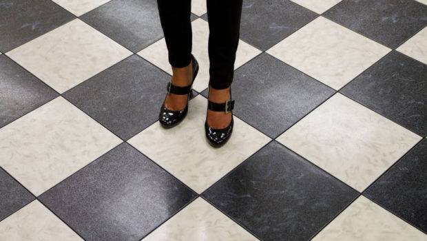 Black White Marble Dance Floor