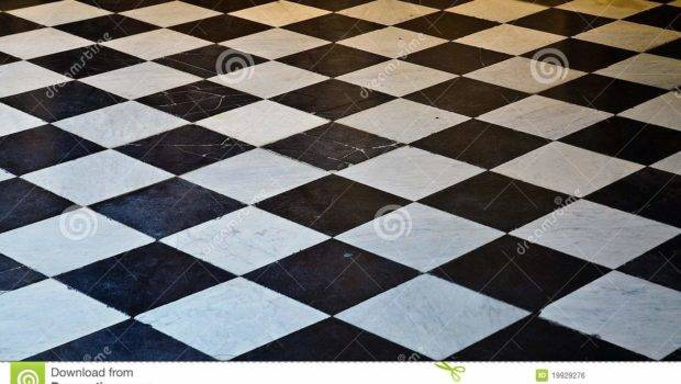 Black White Marble Floor Tiles Covering